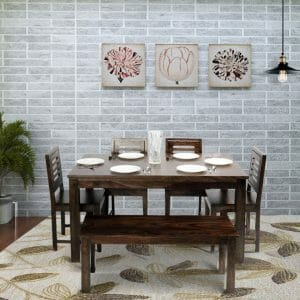 stirling jackson 6 seater dining set solid wood dining table lifestyle