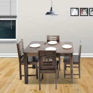 Nadia Kings 4 Seater Dining Table Solid Wood