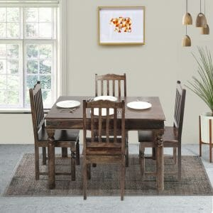 Morris Rawat 4 Seater Solid Dining Table Set