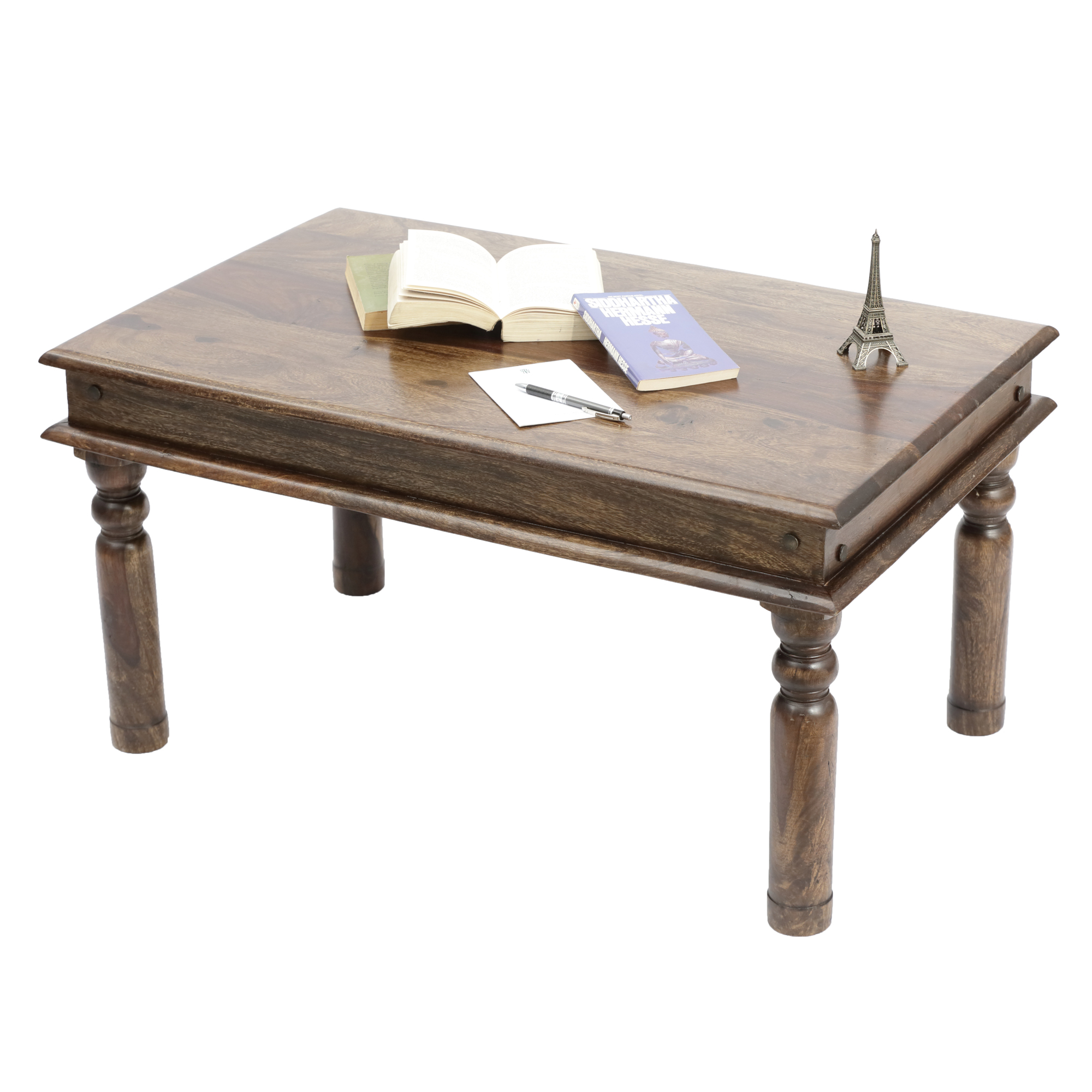 Bodhi Solid Wood Vintage Coffee Table in Provincial Teak Finish