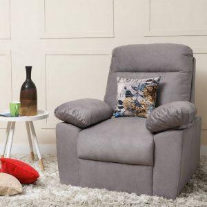 Liana Fabric 1 Seater Sofa  (Finish Color - Grey)