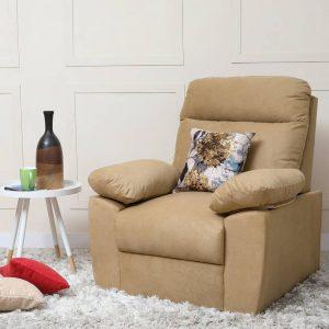 Liana Fabric 1 Seater Sofa (Finish Color - Camel)