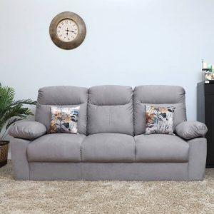 Liana Fabric 3 Seater Sofa (Finish Color - Grey)