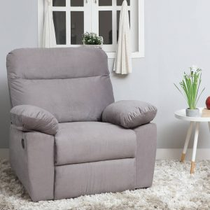 Liana Fabric Manual Recliner (Finish Color-Grey)