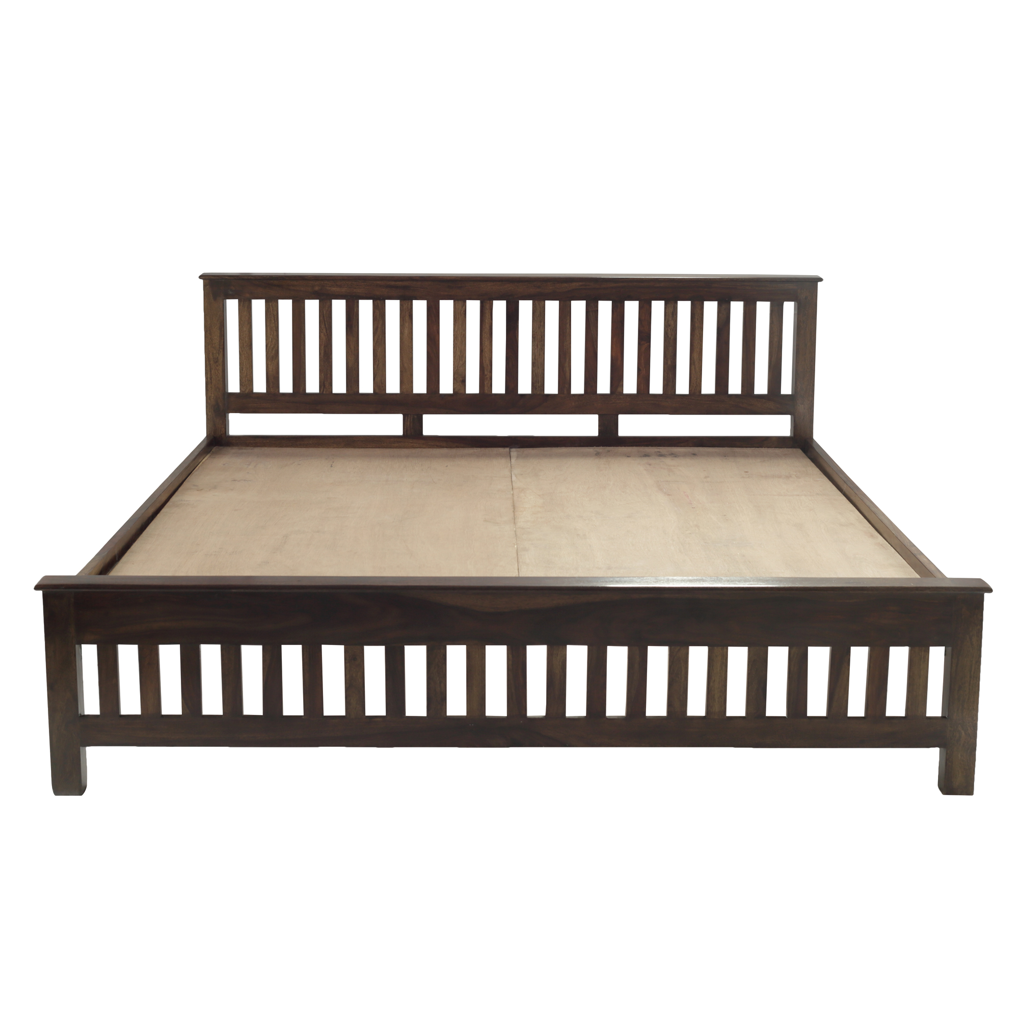 Niagara Solid Wood King Size Bed In Provincial Teak Finish
