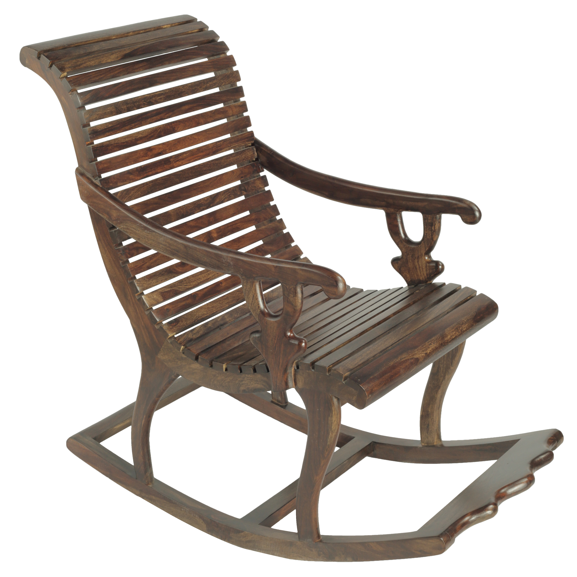 Pranya Solidwood Rocking Chair in Provincial Teak Finish