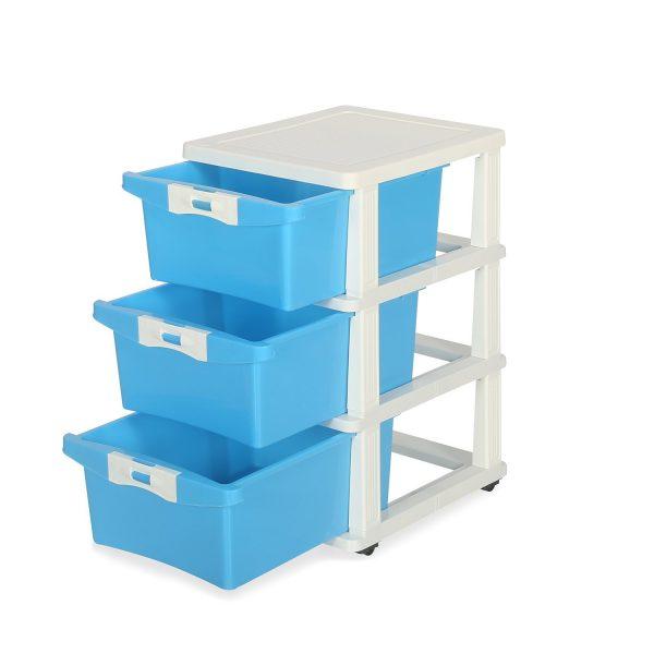 Nilkamal Chester 23 Blue Plastic Free Standing Cabinet