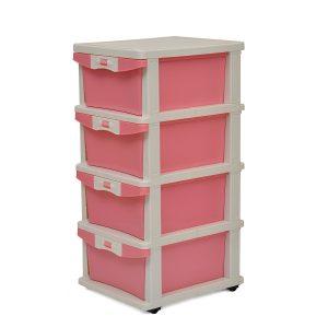 Nilkamal Chester 24 Rose Plastic Free Standing Cabinet