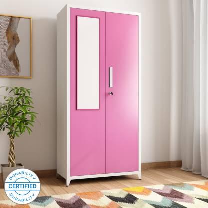 Ryan Pink Metal 2 Door Wardrobe