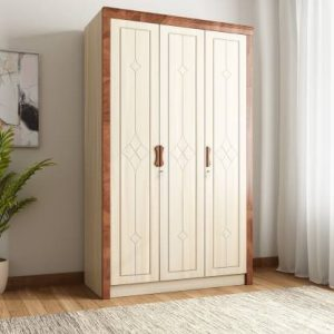Woodness Engineered Wood 3 Door Wardrobe