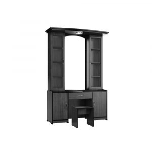 Atlantis Country Dark Dressing Table with Double Shelf