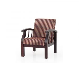 Azalea Solid Wood Single Seater Sofa By Furniture Magik