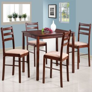 Casanova Solid Wood 4 Seater Dining Table Set