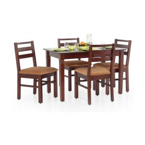 Claire Solid Wood 4 Seater Dining Set By Furniture Magik