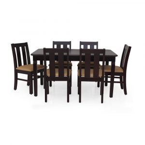 Criuse Solid Wood 6 Seater Dining Set By Furniture Magik