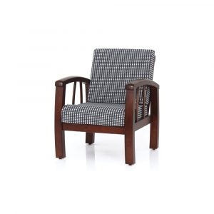 Dahlia Solid Wood Single Seater Sofa By Furniture Magik