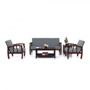 Dahlia Solid Wood Sofa Set By Furniture Magik