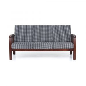 Dahlia Solid Wood Three Seater Sofa By Furniture Magik