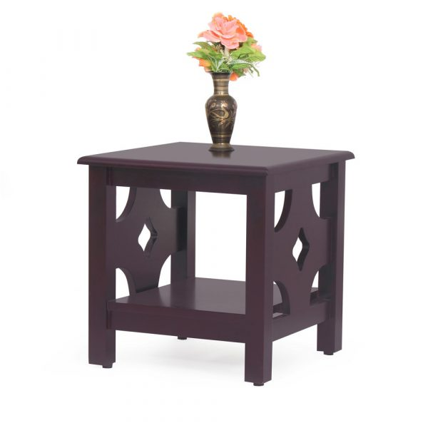 Diamond Solid Wood Side Table By Furniture Magik