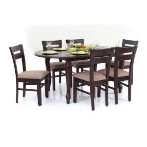 Ellen Solid Wood 6 Seater Dining Set By Furniture Magik