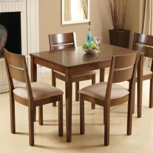 Envy Solid Wood 4 Seater Dining Table Set