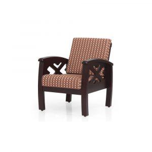 Marigold Solid Wood Single Seater Sofa By Furniture Magik