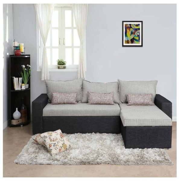 Rio Fabric Double Sofa Sectional Bed By Furniture Magik