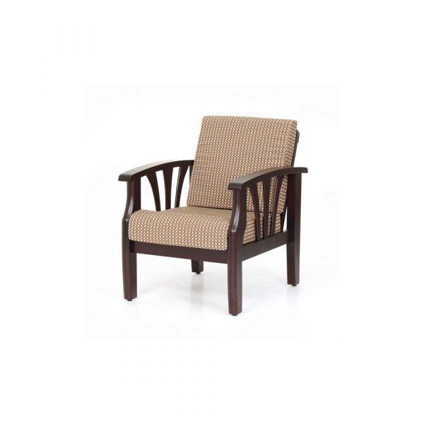 Solidago Solid Wood Single Seater Sofa By Furniture Magik