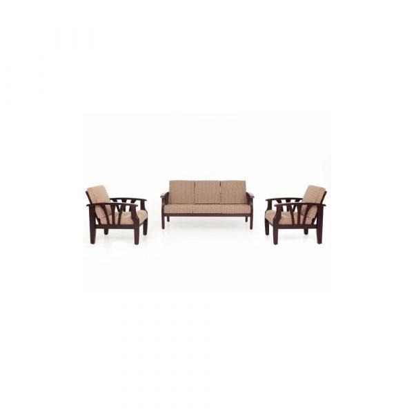 Solidago Solid Wood Sofa Set By Furniture Magik