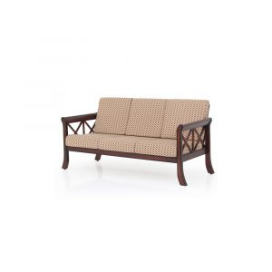 Tulip Solid Wood Three Seater Sofa By Furniture Magik
