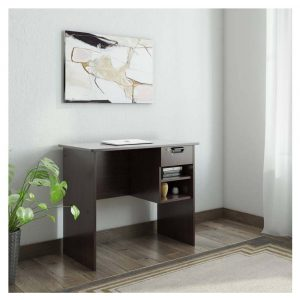 Cali Engineered Wood Office Table (Free Standing, Finish Color - Wenge)