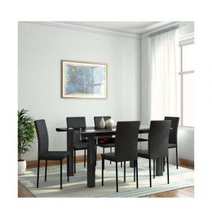 Buy Milan Glass 6 Seater Dining Set Furniture Chennai
