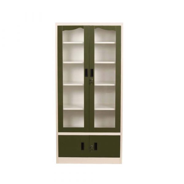 Woodness Tiffany Metal Close Book Shelf