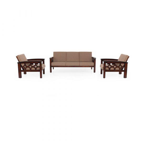 Zinnia Solid Wood Sofa Set By Furniture Magik