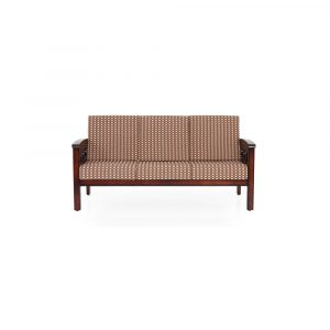 Zinnia Solid Wood Three Seater Sofa By Furniture Magik