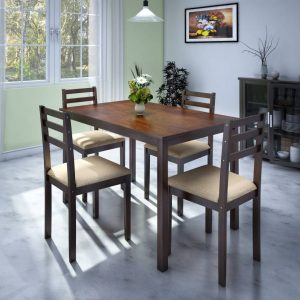 Capri Engineered Wood 4 Seater Dining Set