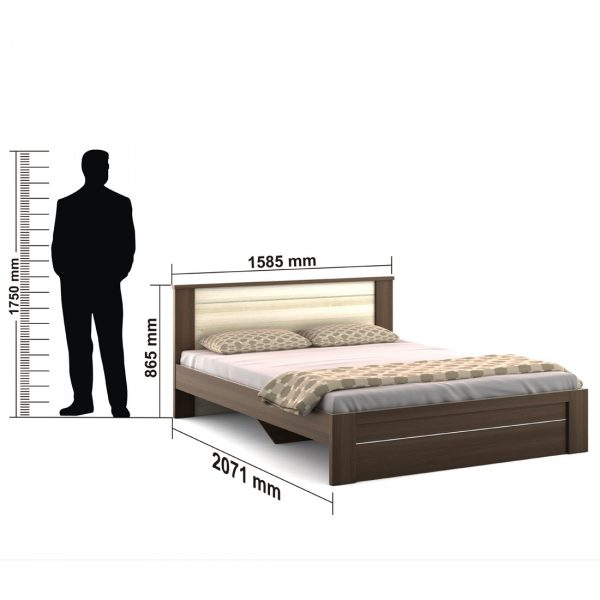 Spacewood Omega Queen Size Bed without Storage