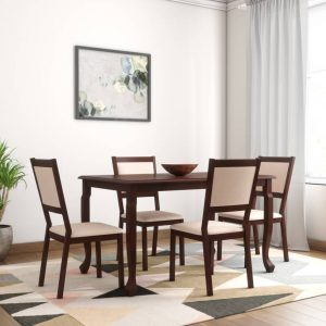 Cruse Solid Wood 4 Seater Dining Set