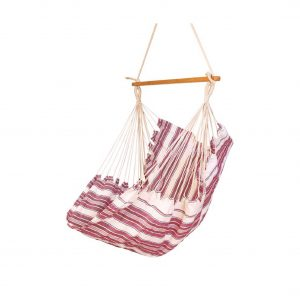 Baffin Cotton Fabric Patio Swing Chair (Lotus Striped)