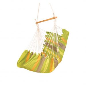 Baffin Cotton Fabric Patio Swing Chair (Green Striped)