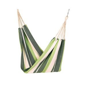 Apia Cotton Fabric Brazilian Hanging Hammock (Forest Stripes)