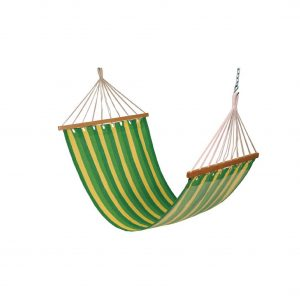Drake cotton fabric outdoor hammock swing (Finish - Green)