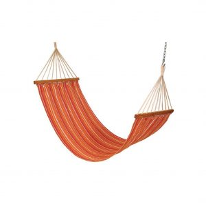 Drake cotton fabric outdoor hammock swing (Finish - Tropical Stripes)