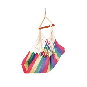 Baffin Cotton Fabric Patio Swing Chair (Rainbow Striped)