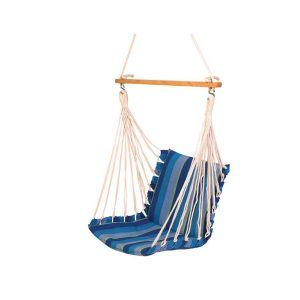 Haiti Cotton Soft Garden Outdoor Swing Chair (Finish - Ocean)