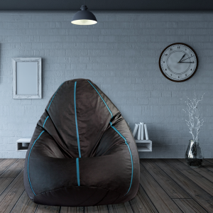 Buy Sporty Bean Bag with beans in Blue