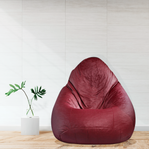 Buy Classic Bean Bag with Beans in Maroon