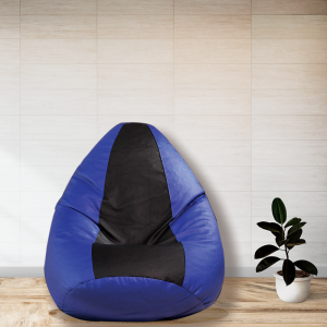 Buy Modern Bean Bag with Beans in Blue