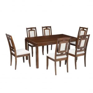Buy Camden Solid Wood 6 Seater Dining Set Online
