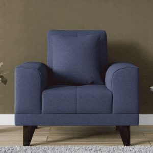 Buy Arco One Seater Sofa in Navy Blue Colour Online